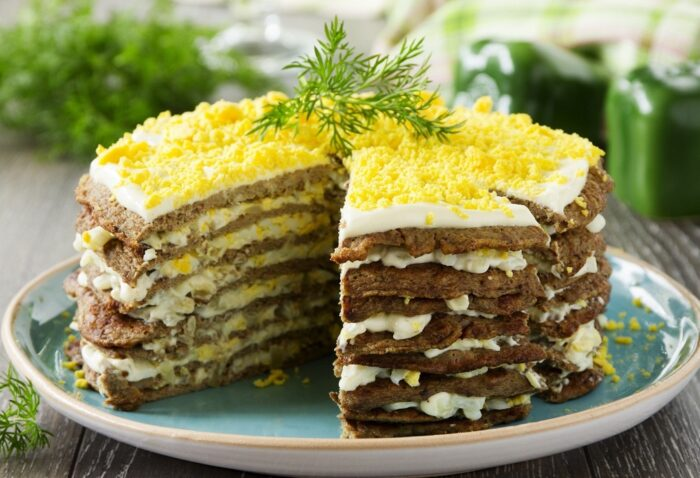 простой рецепт приготовления печеночного торта