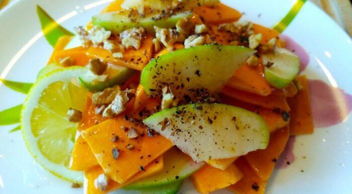 рецепт простого и вкусного салата из тыквы